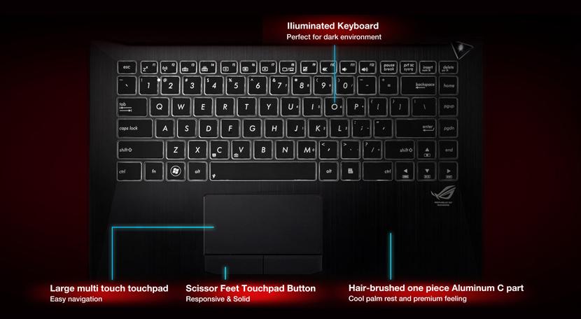 asusg 46 keyboard